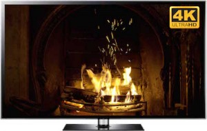 4K SMART TV fireplace video